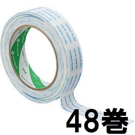 ニチバン 両面テープ No.800 25mm×20m巻 白 印刷付 (箱1) 48個単位 両面粘着テープ