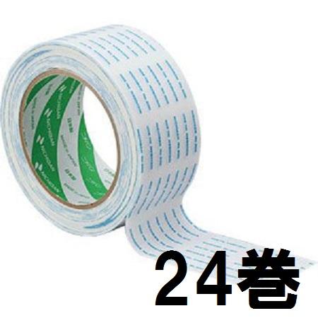 ニチバン 両面テープ No.800 50mm×20m巻 白 印刷付 (箱1) 24個単位 両面粘着テープ