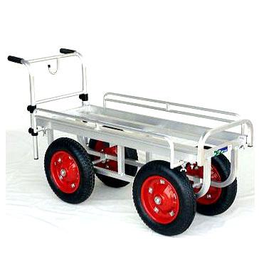 ハラックス 愛菜号 CH-1334 (法人個人選択) エアータイヤ (TR-13×3T) アルミ製収穫台車