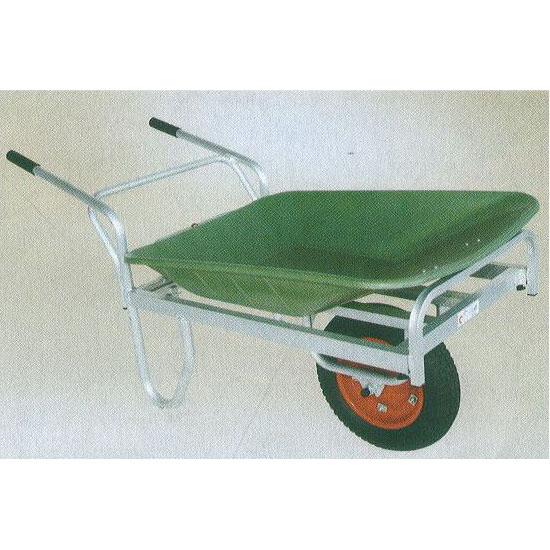 ハラックス アルミ製平型一輪車 コン助 プラバスケット付 CN-45Fブレーキ無 (法人個人選択)
