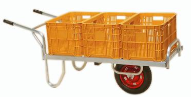 ハラックス コン助 CN-60DX (法人個人選択) エアータイヤ (TR-13×3DX) ブレーキ無 アルミ製 平型一輪車