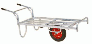 ハラックス コン助 CN-65DX エアータイヤ(TR-13×3DX) ブレーキ無 アルミ製 平型一輪車 ストッパー伸縮タイプ(法人個人選択)