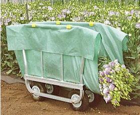ハラックス アルミ製 側枠開閉式 花の収穫台車 はなこ AH-410 エアー入りタイヤ (TR-2.50×4T) (法人個人選択)