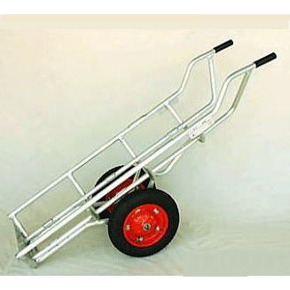 アルミ製 LPガスボンベ運搬台車 タフボーイ(2輪)LPG-502F(アオリ用フック付き)法人個人選択