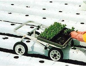 【在庫あり】 ハラックス ウエコロ UK-15 アルミ製 定植用作業車 ノーパンクタイヤ(TR-7MO×10.5)