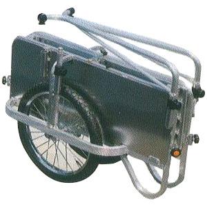 ハラックス コンパック HC-906A アルミ製 折りたたみ式リヤカー 側面アルミパネル付タイプ 法人個人選択