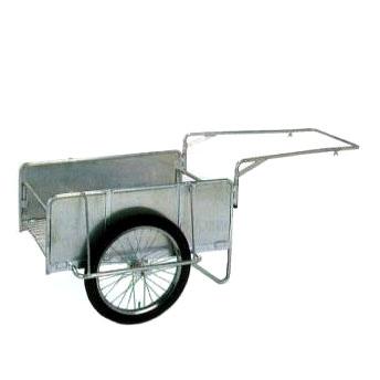 【爆売り!】 側板付アルミ製折りたたみ式リヤカー:瀧商店  ハンディキャンパー S8-A1S-ガーデニング・農業