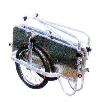 長谷川 コンパック HC-1208NA アルミ製 折りたたみ式リヤカー側板つき ノーパンクタイヤ hara0142