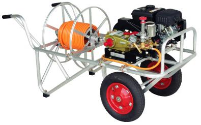 ハラックス 動噴カート 動噴運搬台車 ホース巻取器付 RK-1106 φ8.5mmホース 150m用巻取器付 (φ8.5より戻し金具付)(動噴・ホースは別売)法人個人選択