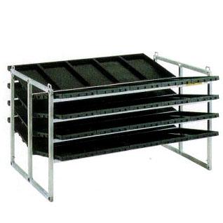 昭和ブリッジアルミ製 苗箱運搬苗箱収納棚NC-40K-20 (棚間隔200mm)yua【smtb-ms】