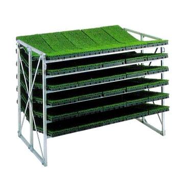 昭和ブリッジ アルミ製 苗箱運搬 苗箱収納棚 (傾斜収納型)NC-70KH 筋交入