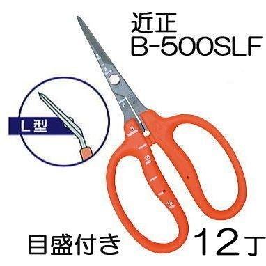2箱(12丁)特価 近正 ぶどう鋏 B-500SLF L型曲げ刃 ステンレスフッソ加工 チカマサ 目盛付き