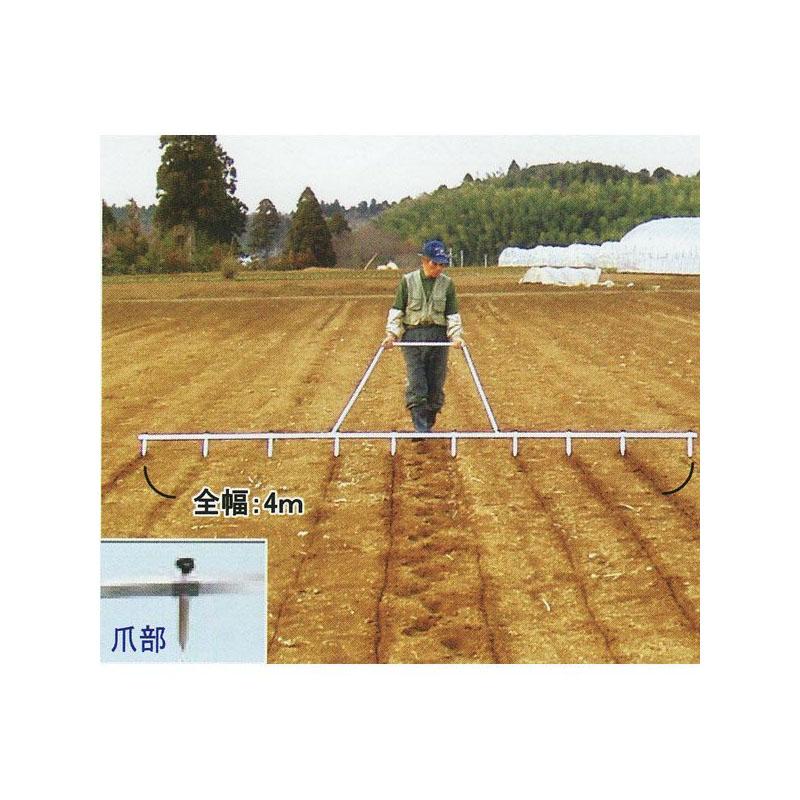 畑の線引き器 ラインナー (スチール製ライン引き) 槍木産業
