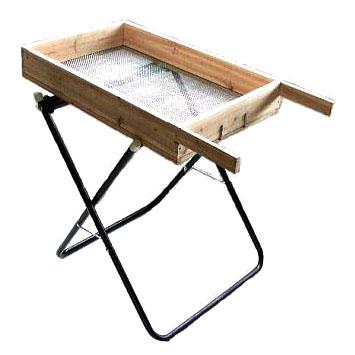 木製 土ふるい・ローラー台 土ふるい器セット