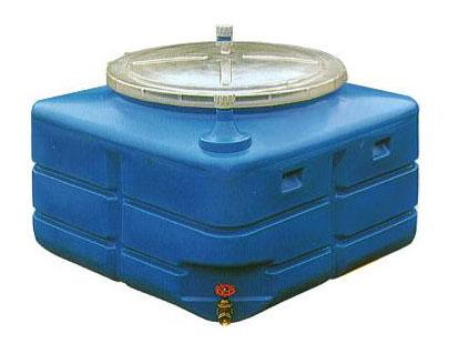 スイコー 輸送用 活魚タンク 500L バルブ付き (フタ透明 青選択)[スイコー] 【smtb-ms】