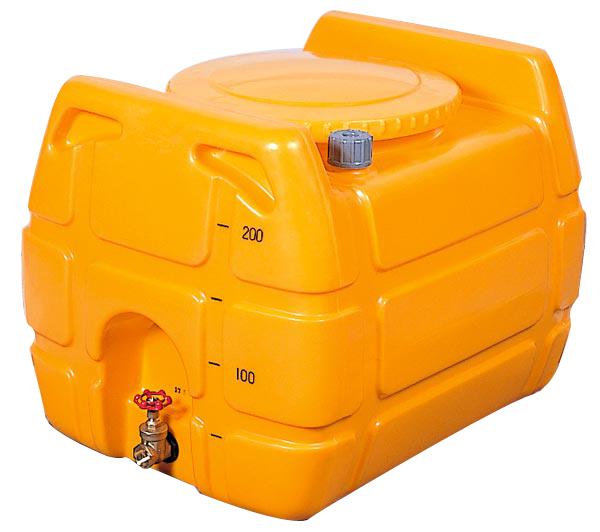 (1インチバルブ付)ローリータンク G-NL-200 目盛、ドレン、エアー抜き付き [防除 防災 貯水タンク](法人届けor営業所引取り)