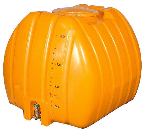 (2インチバルブ付)ローリータンク G-NL-2000 黄色・黒色 (法人届けor営業所で引取り) 合同産業
