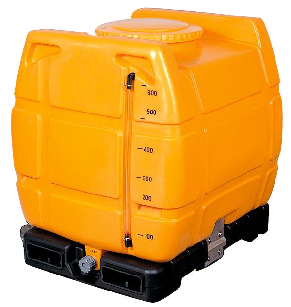 スッキリタンク ST-600 600L 台付完全排水 ローリータンク 色と地域選択(黒有り) フォークリフト使用可 合同産業