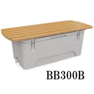 防災グッズ 収納ボックス BB300B 人口木材付き 保冷コンテナ機能 クールボックス