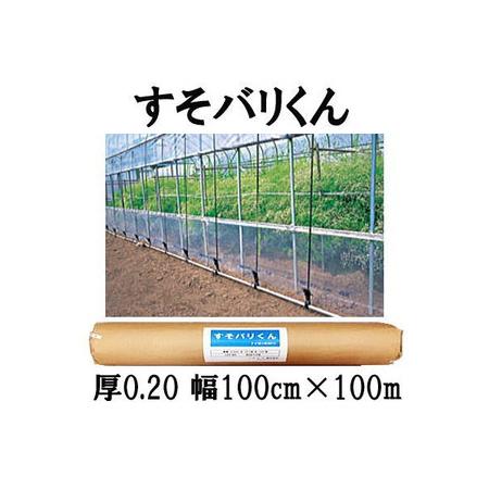 ハウス スソ張り用農PO すそバリくん 厚さ0.2mm×幅100cm×長さ100m【smtb-ms】