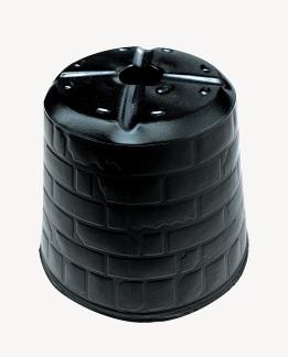 ポリポット ポリ鉢 レンガポット 10.5cm 黒丸 105 底穴1 徳用3000個入 中部農材 CNK