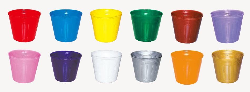 ポリポット ポリ鉢 カラーポット 7.5cm 75 底穴1 徳用6000個 赤・青・黄・緑・茶・桃・紫・乳白・シルバー・ゴールド・オレンジ・うす紫・透明 (色選択) 中部農材 CNK スベールポット