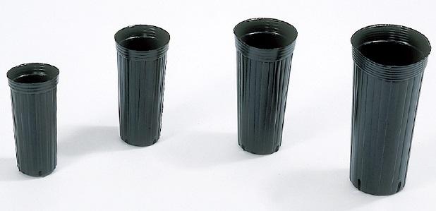 ポリポット ポリ鉢 ロングポット 15cm 深鉢 150 高さ300mm 容積4000cc カド穴4 徳用300個 中部農材 CNK