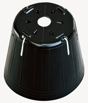 ポリポット ポリ鉢 スベールL (スリット) 9cm 90 エルポット 黒丸 スリット4 底穴1 高さ77mm 容積350cc 徳用4000個 中部農材 CNK
