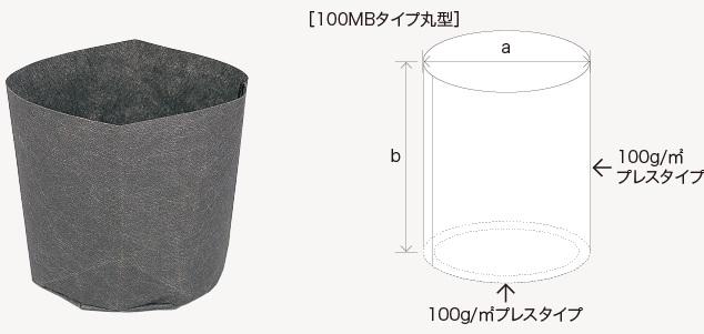 (お徳用) リーズナブル ルートポット 不織布ポット NK18 100MB-18丸 直径18cm 高さ18cm 容量4.6L 樹木サイズ0.5〜1.0m 徳用700枚 中部農材 CNK
