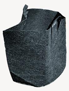 (徳用200枚) タフガーデンバッグ 容量5L GBφ20H20 直径20cm 深さ20cm 野菜・果樹用 丸型 持ち手付 不織布ポット 業務用 中部農材 CNK