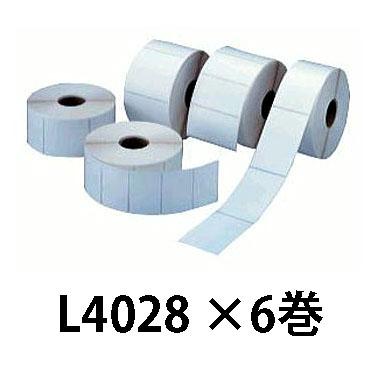 マックス ラベルプリンター LP-80 用 感熱紙LP-L4028 6巻セット[MAX 出荷 食品 ラベル 交換用 瀧商店]