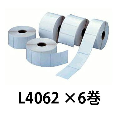 マックス ラベルプリンター LP-80用 感熱紙LP-L4062 6巻セット[MAX 出荷 食品 ラベル 交換用 瀧商店]