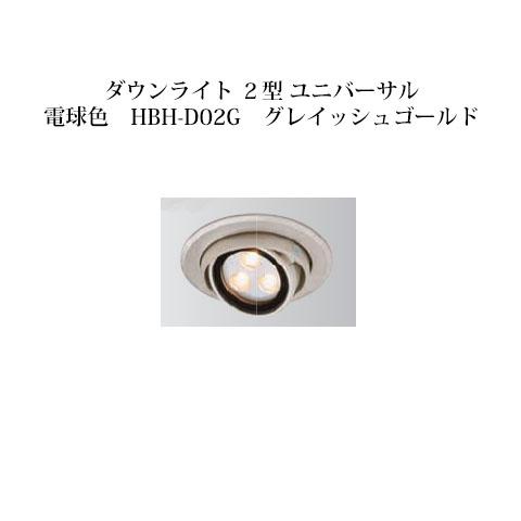 ローボルトライト 12V ダウンライト 2型 ユニバーサル電球色(75166200 HBH-D02G)グレイッシュゴールド[タカショー エクステリア 庭造り DIY 瀧商店]