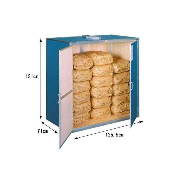 9俵用 総桐材 米保管庫(米収納庫)K-09 通気孔付き(30kg袋×18)組立式 総桐米保管庫 川辺製作所