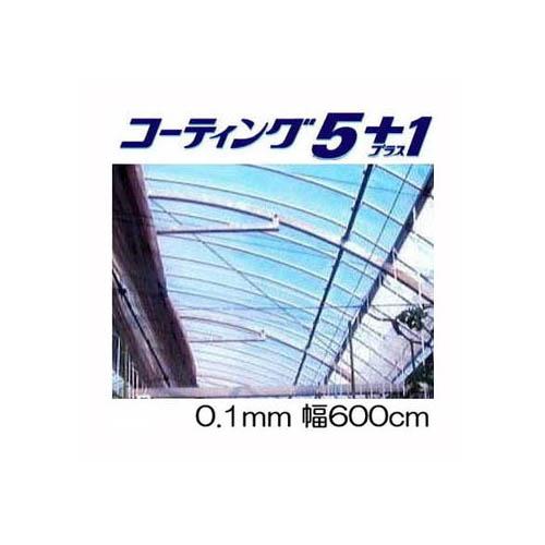 農POフィルム コーティング5+1UV プラス1厚み0.1mm 幅600cm 長さ30m+切り売り タキロン シーアイ [農POフィルム]
