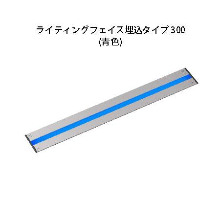 屋外用部材ライト デコレーションライト 12Vライティングフェイス埋込タイプ 300(HAC-B26S 75401400 シルバー)青色[タカショー エクステリア 庭造り DIY ローボルト]