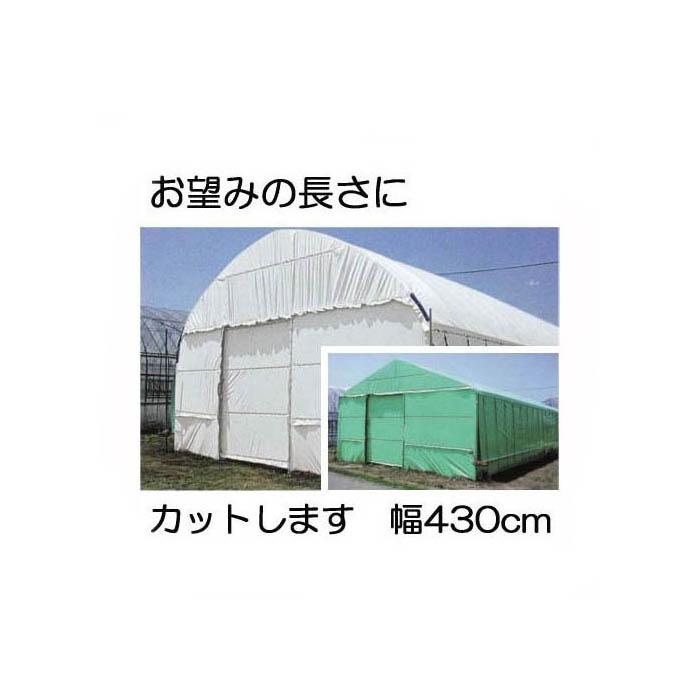ハクリョク 厚み0.15mm幅430cm長さ30m重さ約19.7kg [両面仕様(白・緑)の遮熱・遮光農POフィルム]