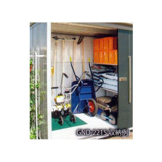 タクボ 家庭菜園物置 GND-S2215 多雪型 組立式[収納棚 物置き 瀧商店]
