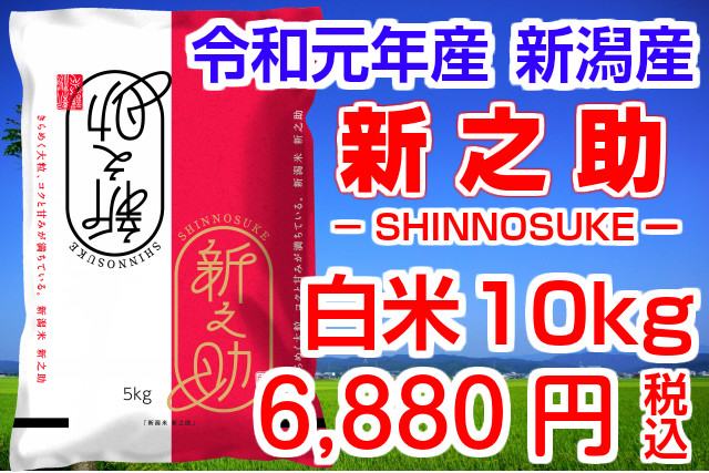 【送料無料】 24kg 30年産 白米 新之助 (2kg×12袋) 新潟県の新ブランド