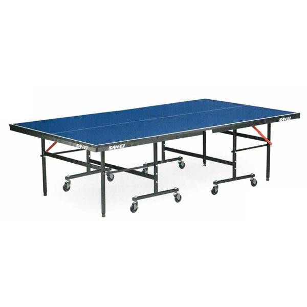 卓球台 国際規格 家庭用 テーブルテニス SAN-EI 三英 sat0016 IS220 (ブルー) (18-956100) (脚部完成品)