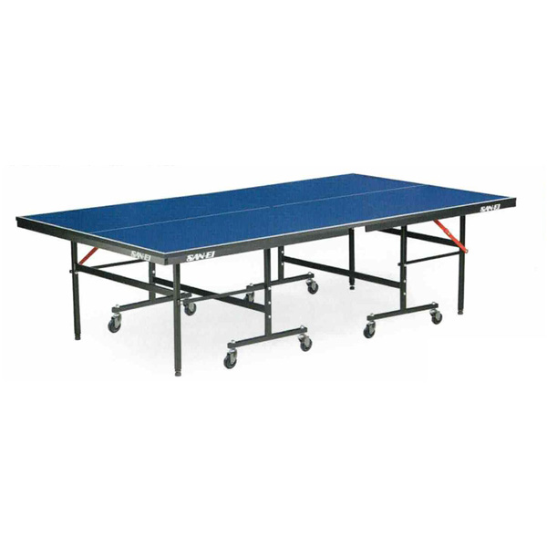 卓球台 国際規格 店 家庭用 テーブルテニス SAN-EI 三英 今だけスーパーセール限定 IS180 ブルー 脚部組立式 sat0019 18-856