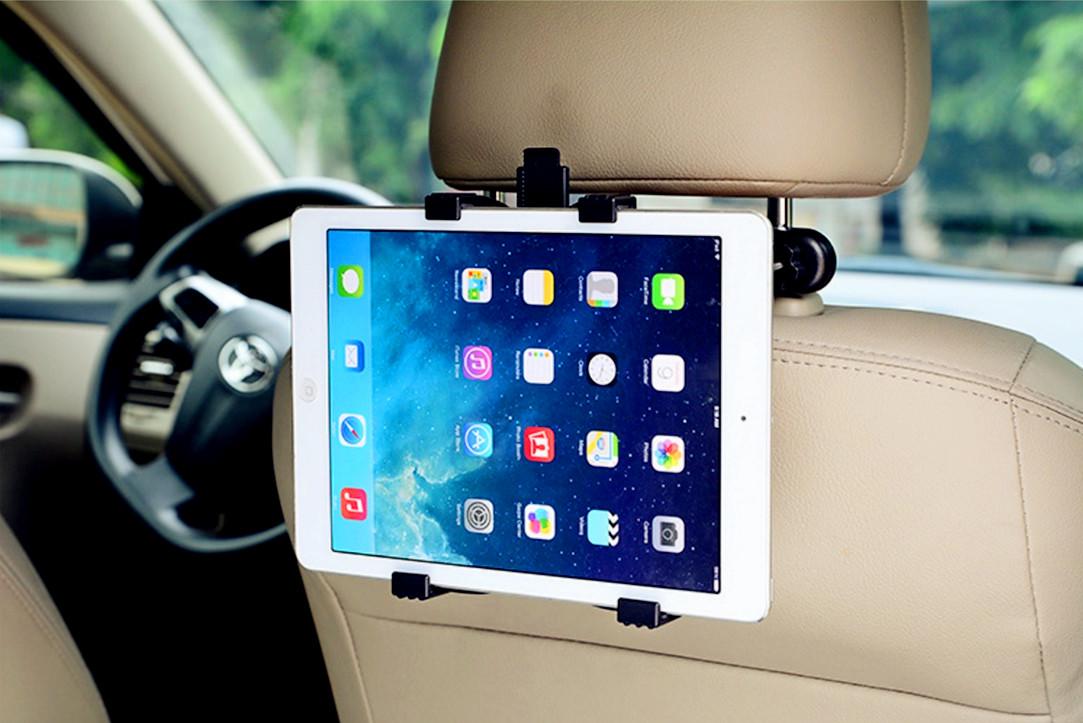 車載ホルダー 後部座席 後部座席用 車載 車載用ヘッドレスト ホルダー スマホ スマートホン スマートフォン タブレット ヘッドレストに取付タイプの車載用iPad タブレットホルダー。スマホもOK!DVDを後部座席真ん中で仲良く鑑賞できる車載ホルダーです。タブレット 後部座席 真ん中 ホルダー 車載ホルダー 車載用 車載 スマホ カーナビ ヘッドレスト dvd スタンド タブレットホルダー iPad