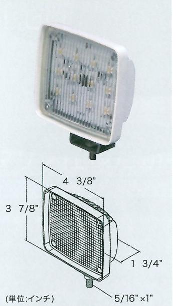 LEDハイパワー作業灯(拡散タイプ1.0WX12LED)