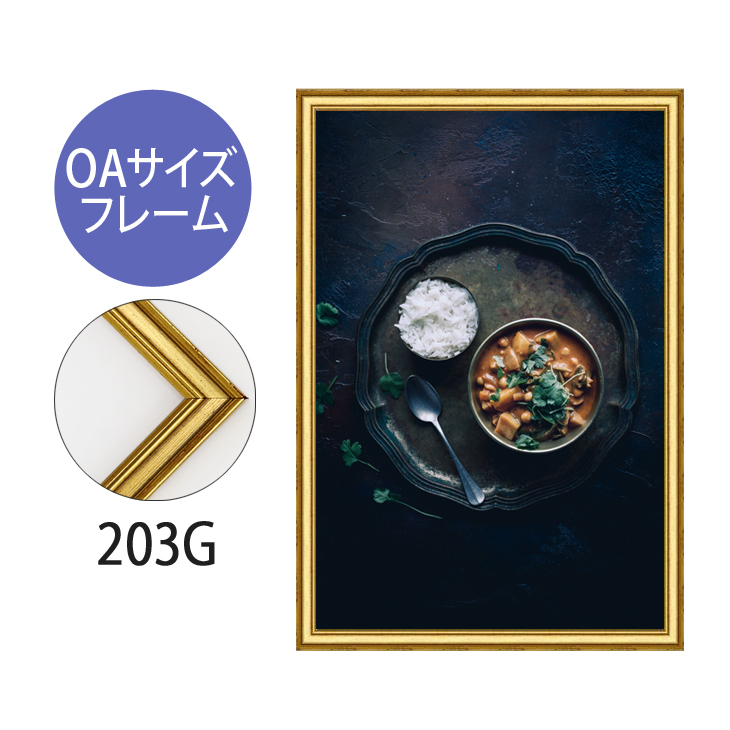 ポスターフレーム OAサイズ 額縁【A-203g】B3・OAサイズ ディスプレイ インテリア 室内装飾