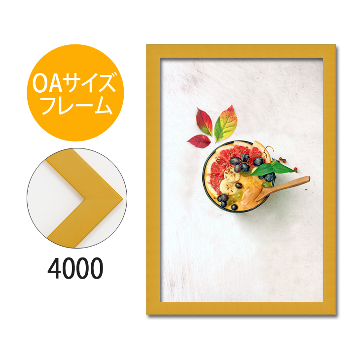 ポスターフレーム OAサイズ 額縁【A-4000】A3・OAサイズ ディスプレイ インテリア 室内装飾