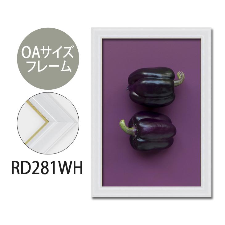 ポスターフレーム OAサイズ 額縁【A-rd281wh】B2・OAサイズ ディスプレイ インテリア 室内装飾