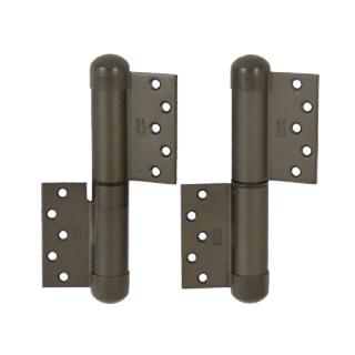 デンセイ オートヒンジ133L-B-PC 日東工器商品コード 17065製品番号 TH00306左開き ストップ機構なし表面色 ブロンズ 材質 鋼板