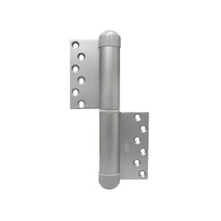 デンセイ オートヒンジ230R-PC 日東工器商品コード 60942製品番号 TH23448右開き 空丁番(クローザ機能なし)表面色 シルバー 材質 鋼板