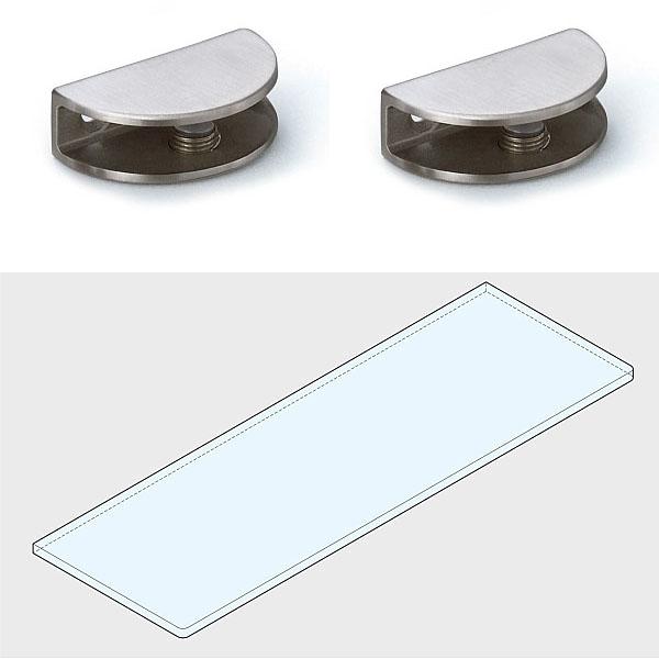 ステンレス鋼製なので 耐食性に優れています LAMP スガツネ工業プレートサポート ガラス用棚受 2884型強化ガラス棚板セット+GSH150型品番 2884VA2-600-SET注文コード 仕上 ガラス棚板1枚 SUS304 120-036-521材料 特価キャンペーン 世界の人気ブランド サテン仕上プレートサポート2ヶ ステンレス鋼