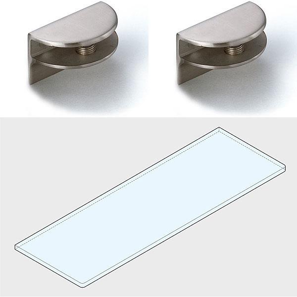 ステンレス鋼製なので 耐食性に優れています LAMP スガツネ工業プレートサポート いつでも送料無料 ガラス用棚受 3073型強化ガラス棚板セット+GSH150型品番 3073VA2-600-SET注文コード サテン仕上プレートサポート2ヶ 海外 ステンレス鋼 SUS304 仕上 120-036-523材料 ガラス棚板1枚